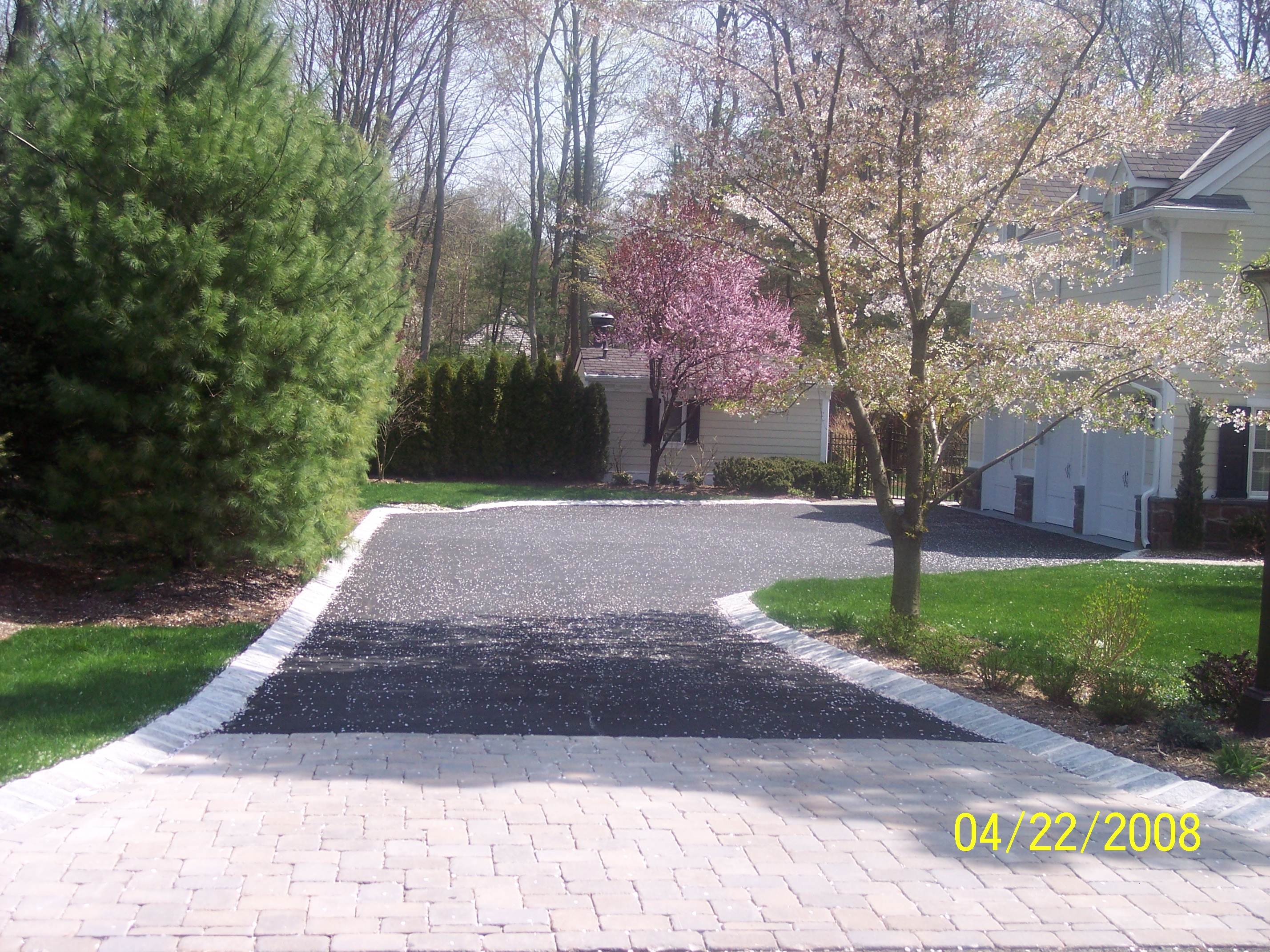 how to fix driveway curb